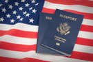 Flag with passport